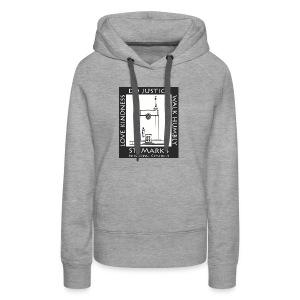 Black St. Mark's Logo - Women's Premium Hoodie