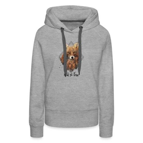 Wild & Free Fox - Women's Premium Hoodie