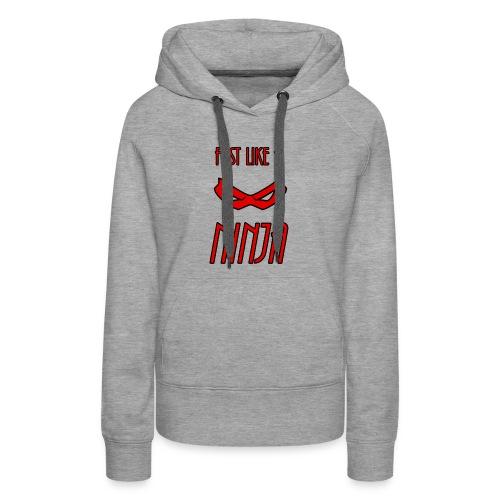 Fast_Ninja_Red - Women's Premium Hoodie