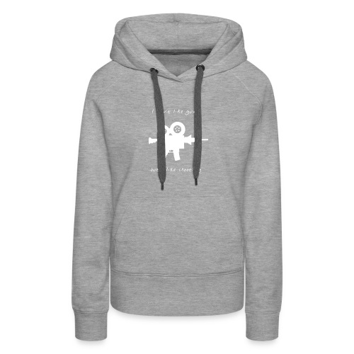 I don't like Guns collection #1 (white) - Women's Premium Hoodie