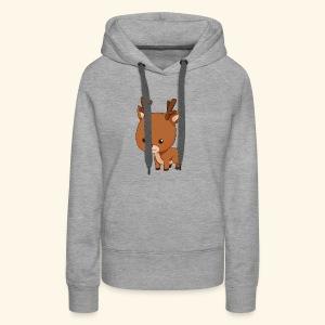 holiday reindeer - Women's Premium Hoodie