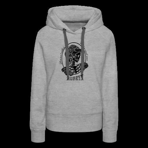 Nothin' Civil Black Rose Skeleton - Women's Premium Hoodie
