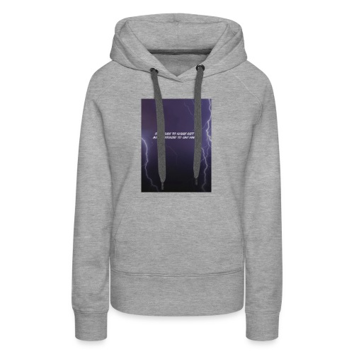 Subscribe to my channels Lighting Bolt - Women's Premium Hoodie