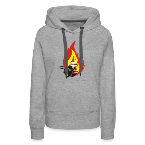 Funny arson ghosts burn everything Halloween - Women's Premium Hoodie