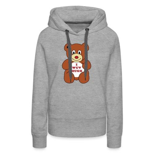 I Wuv Hugs shirt - Women's Premium Hoodie