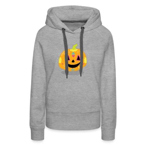 Halloween Funny skull zombie pumpkin Tee shirts - Women's Premium Hoodie