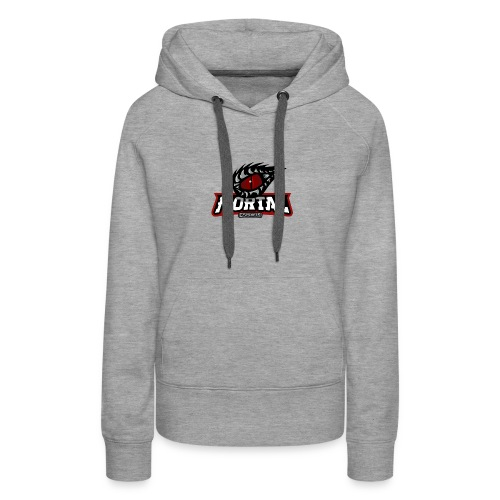 Mortal Esports Full Logo Design (Black) - Women's Premium Hoodie