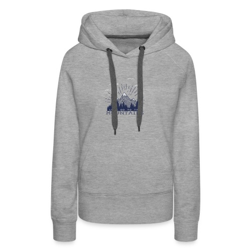 Adventure Mountains T-shirts and Products - Women's Premium Hoodie
