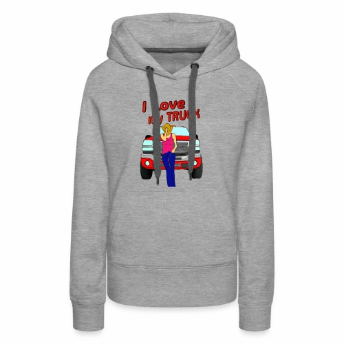 Girls Love Trucks Too - Women's Premium Hoodie