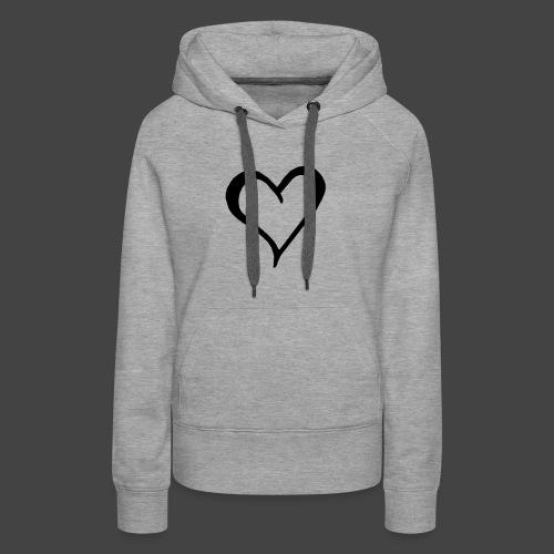Heart Sketch - Women's Premium Hoodie