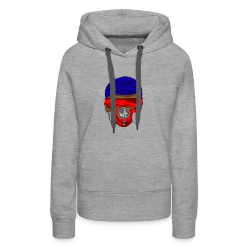 Blue Top - Red Masks - Women's Premium Hoodie