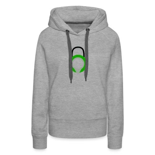 Lock Logo Design - Women's Premium Hoodie
