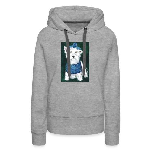 Laddie my Westie a Westie Highland White Terrier - Women's Premium Hoodie
