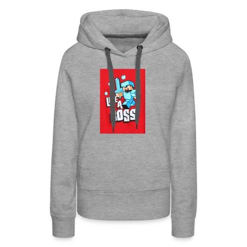 like a boss boys long sleeve2 - Women's Premium Hoodie