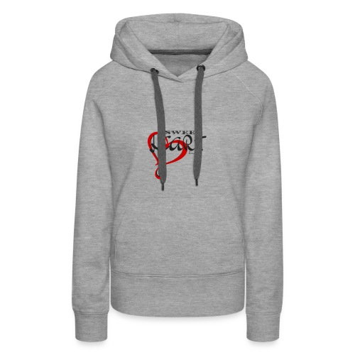 SWEETHEART BLACK & RED by: Roland Ross - Women's Premium Hoodie