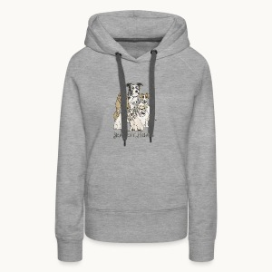 DOGS-SENTIENT BEINGS-white text-Carolyn Sandstrom - Women's Premium Hoodie