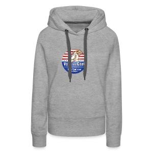 Vote for Goat Button Design - Women's Premium Hoodie