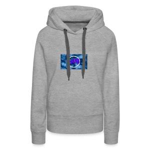blue gothic grunge background3 - Women's Premium Hoodie