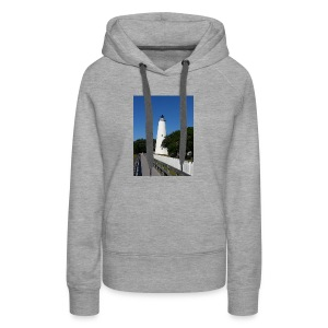 Ocracoke Lighthouse Daylight image - Women's Premium Hoodie
