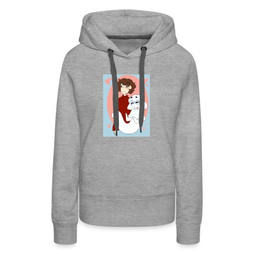 Valentines Day Cynical Ghost Shirt (By Meg Asia) - Women's Premium Hoodie