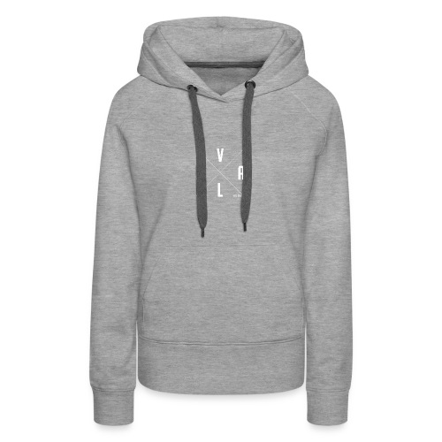 White Vall Co Cross Design - Women's Premium Hoodie