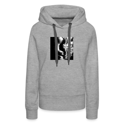Black_and_White_Abstract_art - Women's Premium Hoodie
