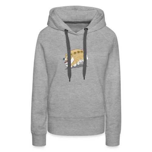 Corgbus: Jump inside for a Very Furry Ride. - Women's Premium Hoodie