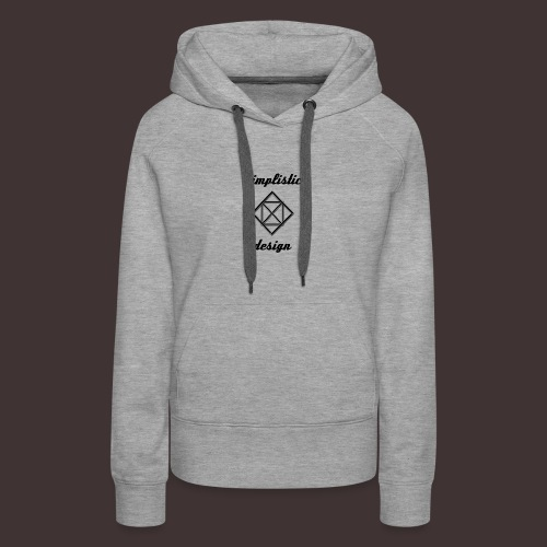 Simplistic Design Logo With Text - Women's Premium Hoodie