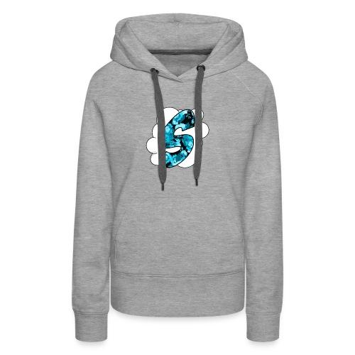 Skyz Blue Floral - Women's Premium Hoodie