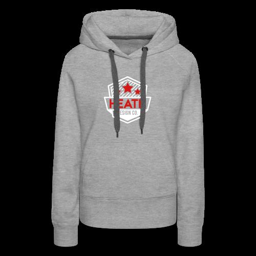 Red and White Logo - Women's Premium Hoodie