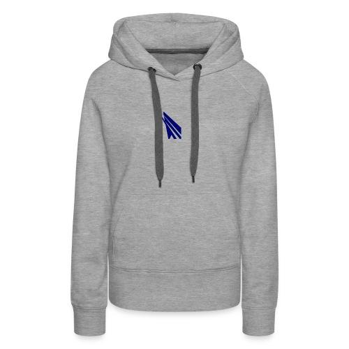 blue logo - Women's Premium Hoodie