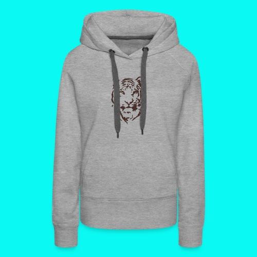 Tiger Printed T-shirt - Women's Premium Hoodie