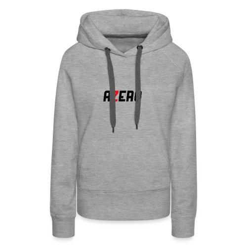Azero Red & White Logo - Women's Premium Hoodie