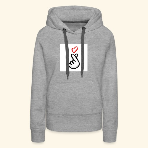 love korean sign - Women's Premium Hoodie