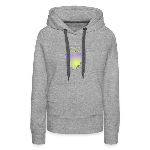Map of Tasmania - Women's Premium Hoodie