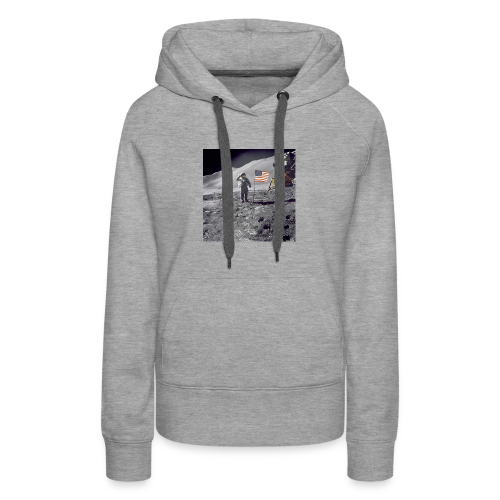 first man on the moon - Women's Premium Hoodie