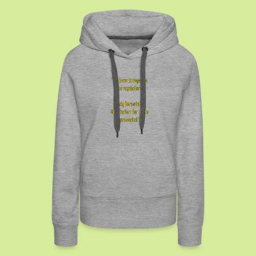 Slogan - Women's Premium Hoodie