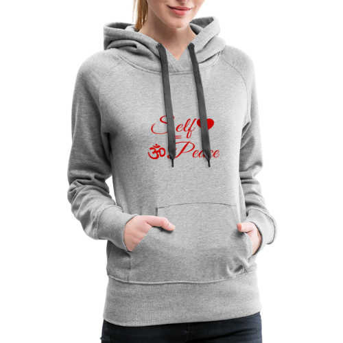 108-lSa Inspi-Shirt-83.b Self-love = OM-Peace - Women's Premium Hoodie