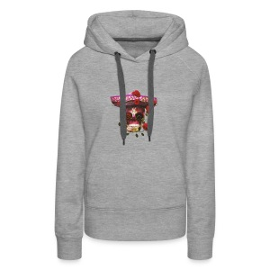 Mexican Skull with roses - Women's Premium Hoodie