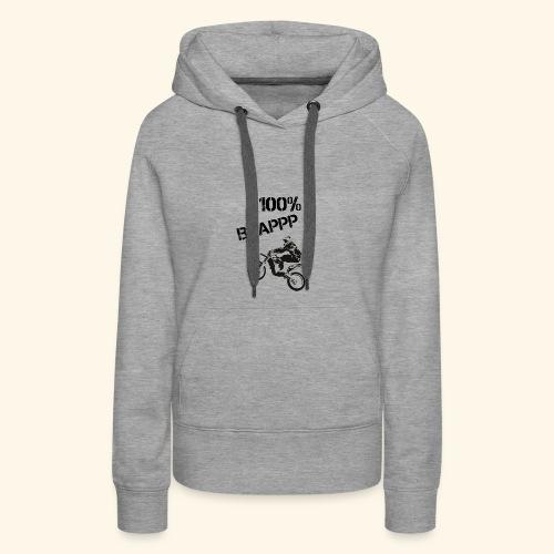 100% BRAPPP (Black and White) - Women's Premium Hoodie