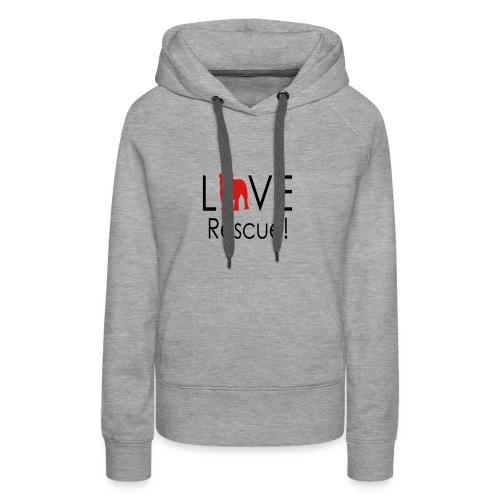 Love Rescue English Bulldog - Women's Premium Hoodie