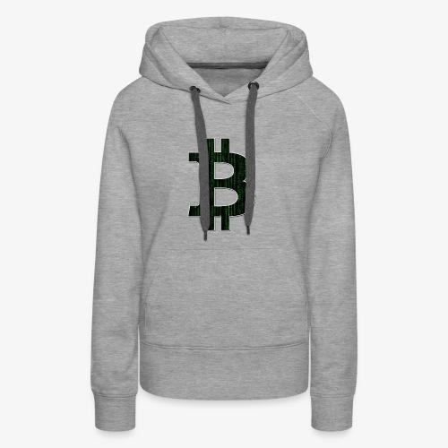 BTC Logo Matrix - Women's Premium Hoodie