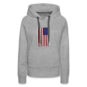 USA Flag (Distressed) - Women's Premium Hoodie