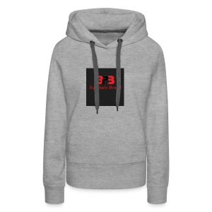 Big Pauly Brand Red Print With Logo - Women's Premium Hoodie