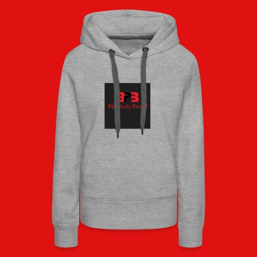 Big Pauly Brand Red Print With Logo - Women's Premium Hoodie
