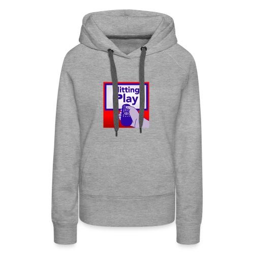 Hitting Play Logo - Women's Premium Hoodie