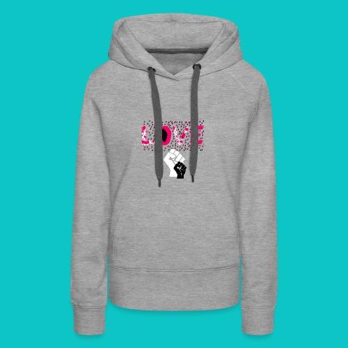 tshirt_1_love_wo_black_2_4 - Women's Premium Hoodie