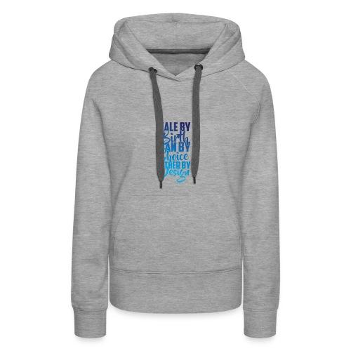 MALE BY BIRTH - MULTI BLUE - Women's Premium Hoodie