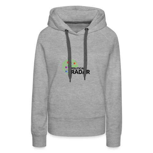 Political Radar Logo - Black - Women's Premium Hoodie