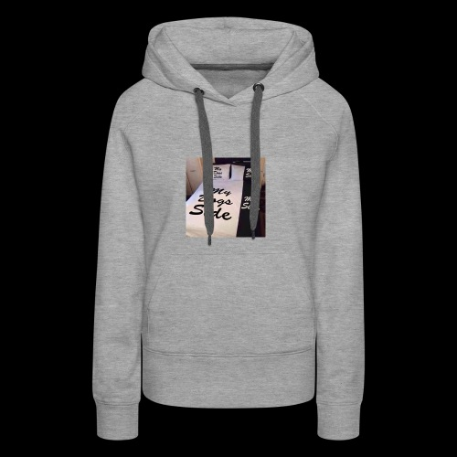 My side of the bed, my dogs side - Women's Premium Hoodie
